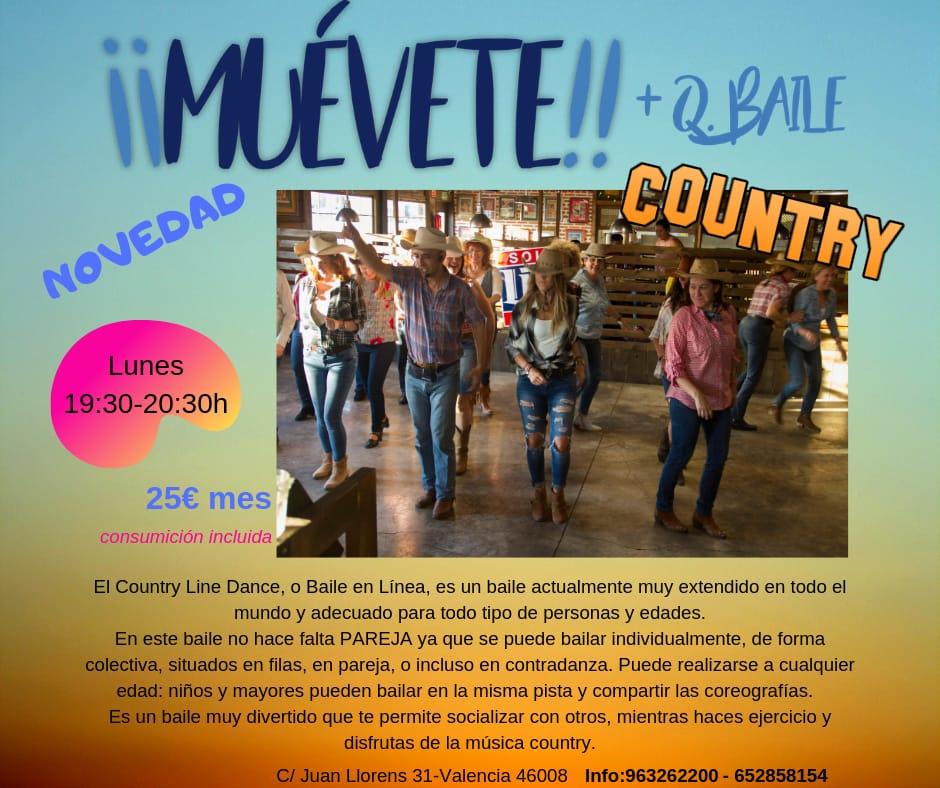 Publicidad más que baile. Country en Valencia.