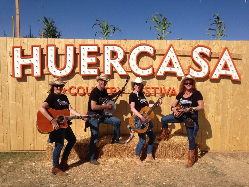 Con alumnos en Festival Huercasa.